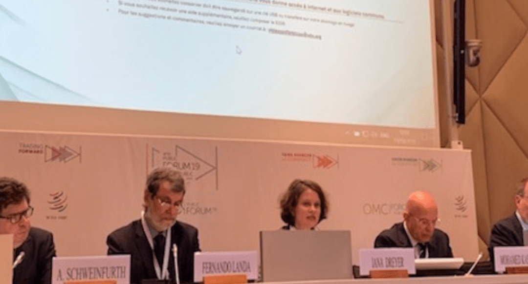 GBC members led a successful workshop during WTO 2019 Public Forum